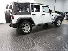white and black jeep wrangler 2011 used jeep wrangler unlimited 4wd 4dr sport at united auto