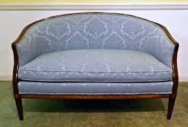 Ideas For Hepplewhite Furniture Design Furniture Exciting Blue Hepplewhite Settee Loveseat Ideas Best