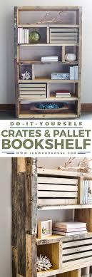 free building plans diy rustic pallet bookshelf