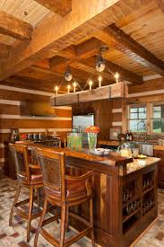 Log Cabin Kitchen Ideas How To Smartly Organize Your Log Cabin Kitchen Designs Log Cabin