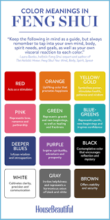how to choose the perfect color the feng shui way color color meanings in feng shui feng shui guide to colour colour each room depending on desired mood