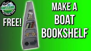 Canoe Shaped Bookshelf Make A Boat Bookshelf From Pallet Wood Ta Outdoors Youtube