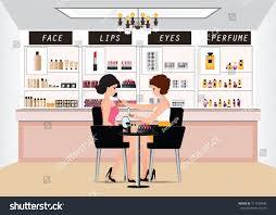 Makeup Chairs For Professional Makeup Artists Professional Makeup Artist Working Makeup Brush Stock Vector