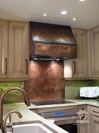 copper stove hood with copper backsplash dragon forge colorado
