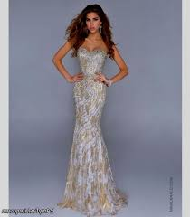 prom dresses white and gold lace naf dresses