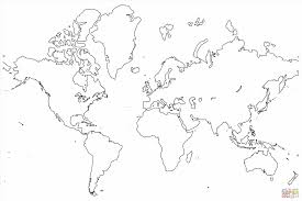 Canada World Map by Blank Map Coloring Pages Map Of The World Coloring Page Free