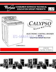 manual de usuario para lavadoras whirlpool calypso gvw9959k 0