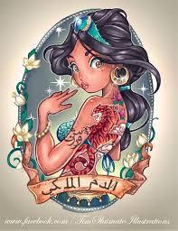 tattooed disney princesses the mary sue