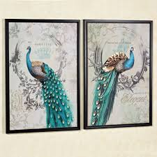 panache peacock framed canvas wall art