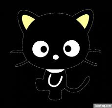 kitty cute black cat vector free download