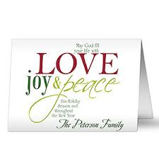 words of christmas personalized christmas cards u0026 envelopes