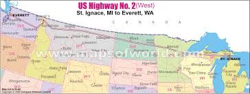 us hwy map us highway no 2 west map st ignace mi to everett
