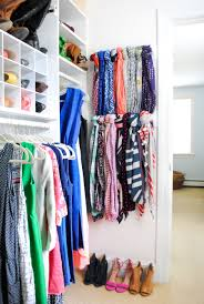 How To Hang Scarves On Curtain Rods by 15 Super Simple Ways To Organize Scarves