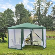 Pop Up Gazebos With Netting by Outsunny Outdoor Hexagon Party Gazebo With Mesh Screen Tents