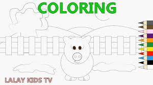 coloring pages farm and pig pig coloring learning colors for