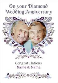 60th wedding anniversary greetings diamond 60th wedding anniversary cards funky pigeon