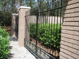 garden brick wall design ideas creative cool and functional metal fence design ideas with wrought