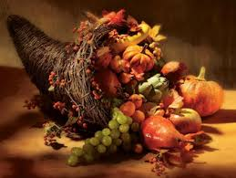 the cornucopia is a symbol we out at thanksgiving to remind