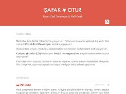 front end developer resume front end developer resume by şafak otur dribbble