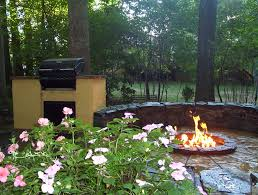 outdoor kitchen fire pit u0026 patio in north potomac md allentuck