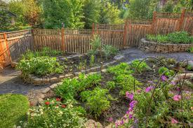 Rock Vegetable Garden Portland Landscaping Outdoor Living Traditional Landscape