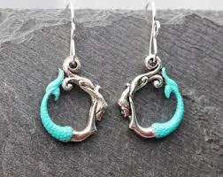 mermaid earrings dolphin earrings porpoise earrings earrings