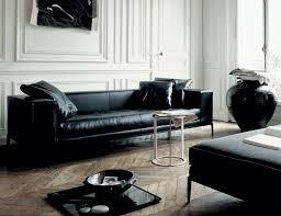 Leather Couches Black Leather Sofa Gives Elegant Impression 8 House Design Ideas