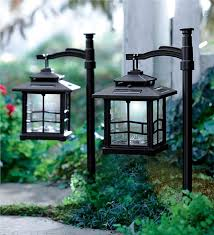 Outdoor Solar Landscape Lights Led Shepherds Hook Solar Lantern Lighting Plow Hearth Outdoor
