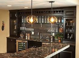 Under The Cabinet Lights by Back Wall Of Bar Like The Cabinets With The Glass Door