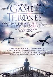 winter is coming of thrones costume themed pub