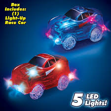 rainbow cars magic tracks 220 piece glow in the dark racetrack and car play set