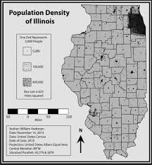 Maps Of Illinois by Population Density Map Of Illinois