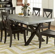 black rustic dining table kitchen table round dark wood carpet flooring chairs glass