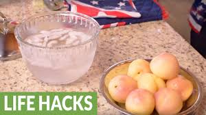 Kitchen Hacks by Kitchen Hack Peel Peaches Youtube