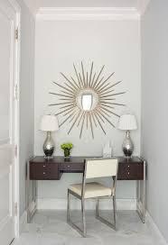 Silver Vanity Chair Espresso Stained Makeup Vanity Under Sunburst Mirror