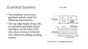 Handrail Requirements Osha Fall Protection Osha New General Industry 2017 Standard