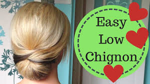 chignon tool easy smooth low chignon hairstyle tutorial weddings prom