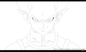 vegetta from dragon ball z coloring page free printable coloring