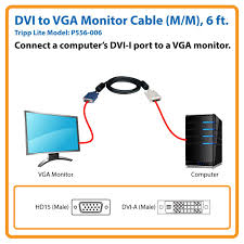 Vga To Hdmi Wiring Diagram Amazon Com Tripp Lite Display Cable Dvi To Vga High Resolution
