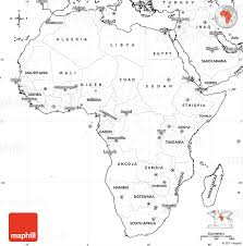 map of africa with country names blank simple map of africa