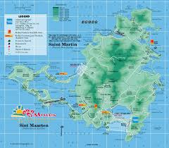 Map Caribbean Sea by Caribbean On Line St Martin St Maarten Maps St Martin St