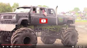 monster trucks videos in mud the muddy news she loves getting stuck in her monster truck