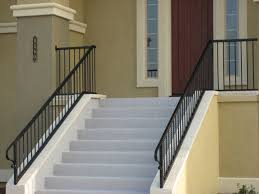 stairs astonishing outdoor metal stair railing wrought iron