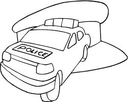 police car coloring