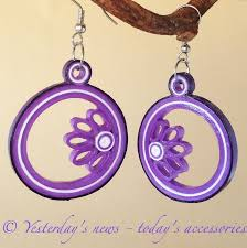 paper ear rings quilled paper earrings by papersbynena on deviantart