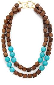 wood beads necklace designs images Kenneth jay lane two row wood bead necklace shopstyle women jpg