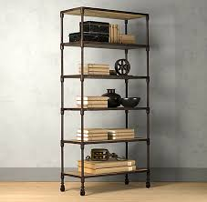 Bookcase Black Wood Bookshelf Extraordinary Industrial Bookcases Charming Industrial