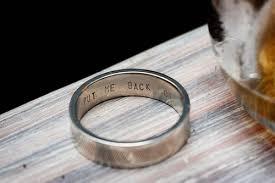 wedding band inscription put me back on lol idea for his wedding band wedding