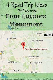 Monument Valley Utah Map by Four Roadtrip Ideas That Include Four Corners Monument Suitcases