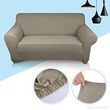 canapé extensible kinlo housse de canapé extensible 140 à 170cm 2 places beige en